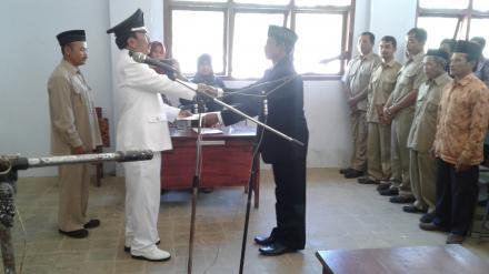 Pelantikan Kepala Dusun Barupetak